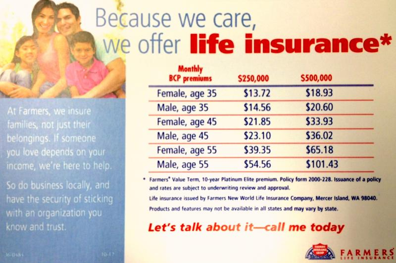 farmers insurance life insurance affordable car insurance